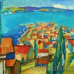 Картина Красный город