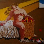 Елена Гусева, картина «Яблочный спас»