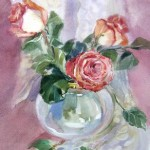 Картина Розы Glamour, акварель