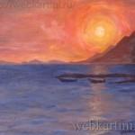 """Картина """"Закат на Черном море"""""""