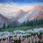 """Картина """"Закат в горах"""""""