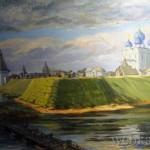 Картина Больверк в устье рва со стороны Волг