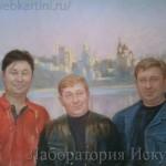 Портрет Фоминова В.В. на фоне Воронежского пейзажа