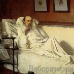 Портрет Некрасова, работа Ивана Крамского